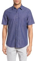 Maker & Company Men's Regular Fit Stripe Short Sleeve Sport Shirt