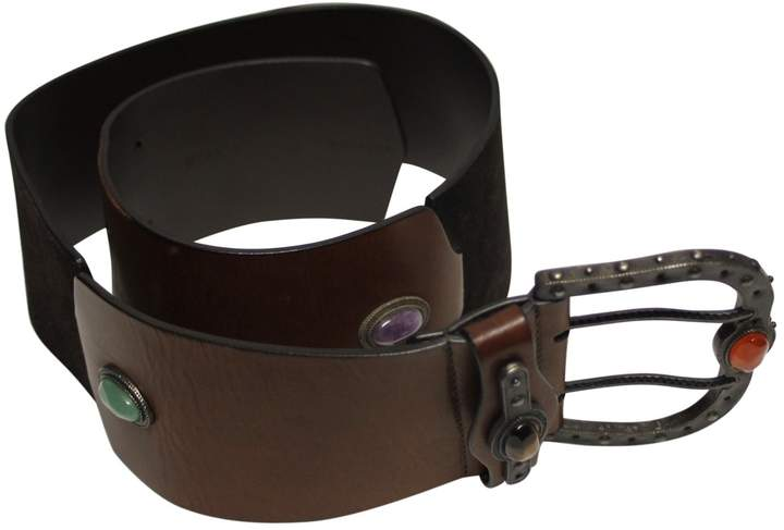 Valentino Brown Leather Belts