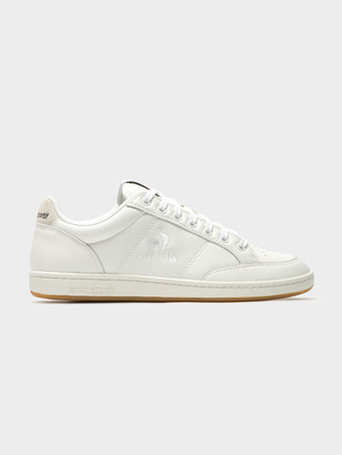 Le Coq Sportif Womens Court Clay Sneakers in Optical White