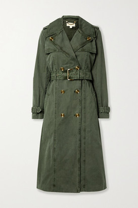 MICHAEL Michael Kors Madi Cotton-gabardine Trench Coat - Army green