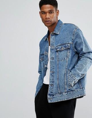 Cheap Monday Oversized Denim Jacket Chapter 9 Blue