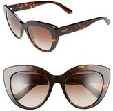 Dolce & Gabbana Women's 53Mm Cat Eye Sunglasses - Havana