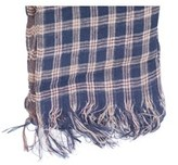 Brunello Cucinelli Women's Navy & Brown 100% Linen Scarf~.
