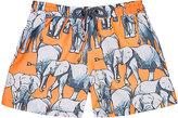 Sunuva Elephant-Print Swim Trunks-ORANGE