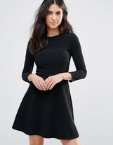 Oh My Love Skater Dress With Cut Out Neck Detail