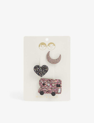 Mimi & Lula Night Bus hair clips set of three