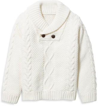 Janie and Jack Baby's, Little Boy's & Boy's Cable Knit Wool-Blend Sweater