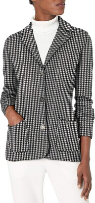 Chaps Women's Cotton-Blend Sweater Blazer