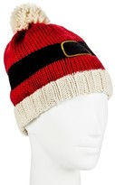 David & Young Holiday Santa Suit Beanie Hat - Red