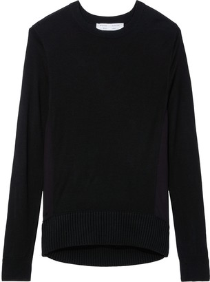 Proenza Schouler White Label Twisted Knot Combo Silk Knit Sweater