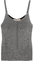 Christopher Kane Metallic Knitted Camisole - Silver