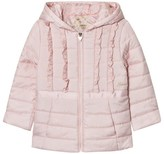 GUESS Pale Pink Frill Padded Coat with Hood
