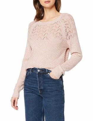 Dorothy Perkins Women's Pink Textured Yoke Detail Jumper Pullover Sweater 16