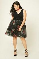 Forever 21 FOREVER 21+ Plus Size Floral Mesh Dress