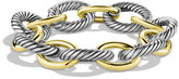 David Yurman XL Sterling Silver & 14K Gold Bracelet