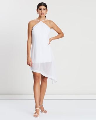 NA-KD Halter Neck Midi Dress