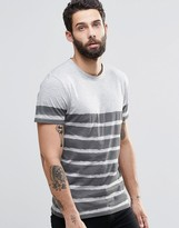ONLY & SONS T-Shirt with Painted Breton Stripe