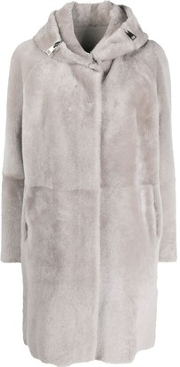 Suprema Long-Sleeve Shearling Coat