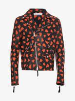 Jw Anderson Leather Hearts Biker Jacket