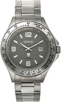 Croton Mens Gray Dial Stainless Steel Sport Watch
