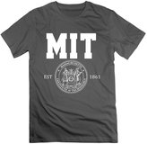 SLIAT Men's Massachusetts Institute Of Technology Mit Logo T-shirts DeepHeather