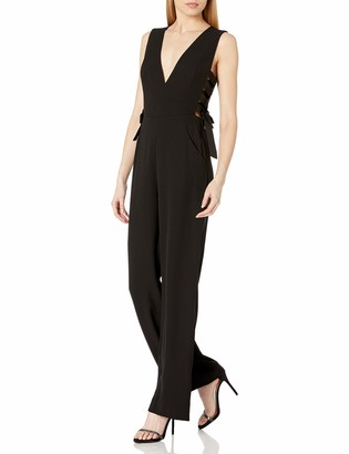 BCBGMAXAZRIA Women's Lace-Up Jumpsuit