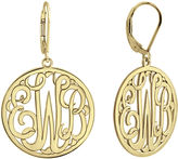 JCPenney FINE JEWELRY Personalized 14K Gold Over Sterling Silver Monogram Drop Earrings
