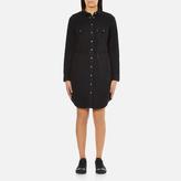 Levi's Women's Long Sleeve Iconic Western Dress Black Ink