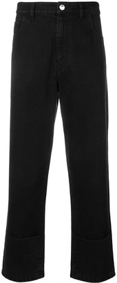 Raf Simons Cropped Straight Jeans