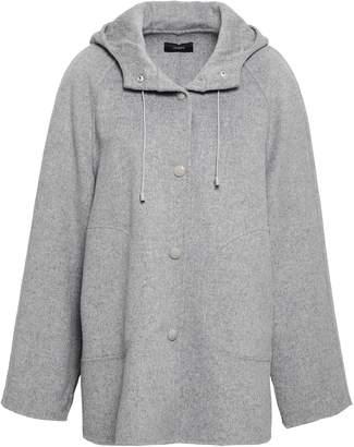Joseph Melange Wool And Cashmere-blend Hooded Coat