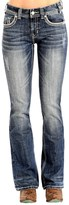 Rock & Roll Cowgirl Falling-Zigzag Bootcut Jeans - Mid Rise (For Women)