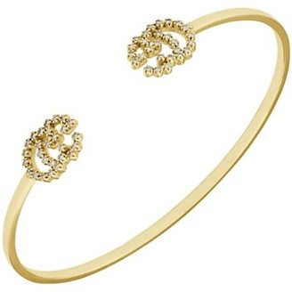 Gucci GG Running Bracelet in Yellow Gold and Diamonds