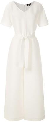 Emporio Armani Tie-Waist Poplin Dress