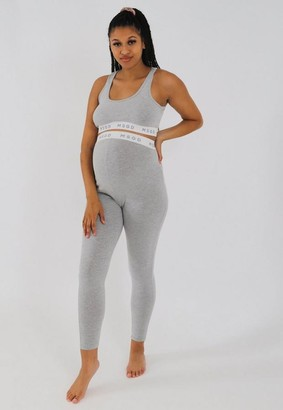 Missguided Gray Marl Msgd Maternity Leggings