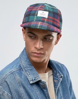 Asos Vintage Baseball Cap In Flannel Check
