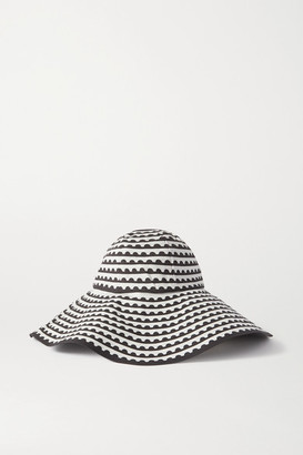 Mary Katrantzou MARY-MARE Under The Sun Printed Cotton-blend Hat - Black