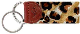 Veronica Beard Leopard Print Key Fob