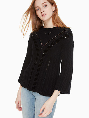 Kate Spade Velvet Ribbon Sweater