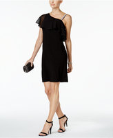 MSK Asymmetrical Ruffle Embellished Dress