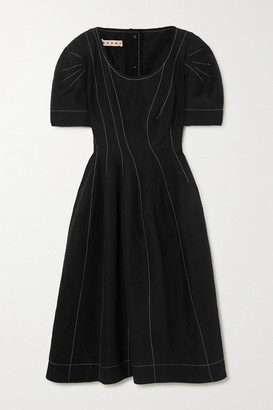 Marni Grain De Poudre Midi Dress - Black