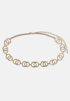 Missguided Look Interlocked Ring Chain Belt