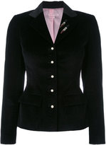 Olympia Le-Tan blazer with sequin appliqué - women - Cotton - 36