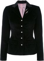 Olympia Le-Tan blazer with sequin appliqué - women - Cotton - 40