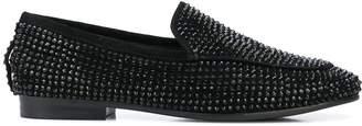 Lola Cruz studded slip-on loafers