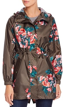 Joules GoLightly Packable Floral Print Raincoat