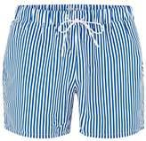 Topman Blue and White Stripe Swim Shorts