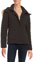 Andrew Marc Faux Fur Trimed Down Puffer Coat