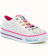 Skechers Girls' Twinkle Toes Shuffles Twirly Toes Light-Up Sneakers