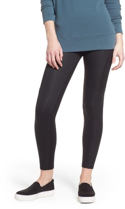 Yummie by Heather Thomson Coated Side Panel Ankle Leggings