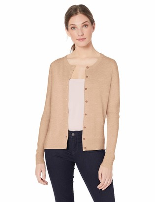 Amazon Essentials Women's Lightweight Crewneck Cardigan Sweater